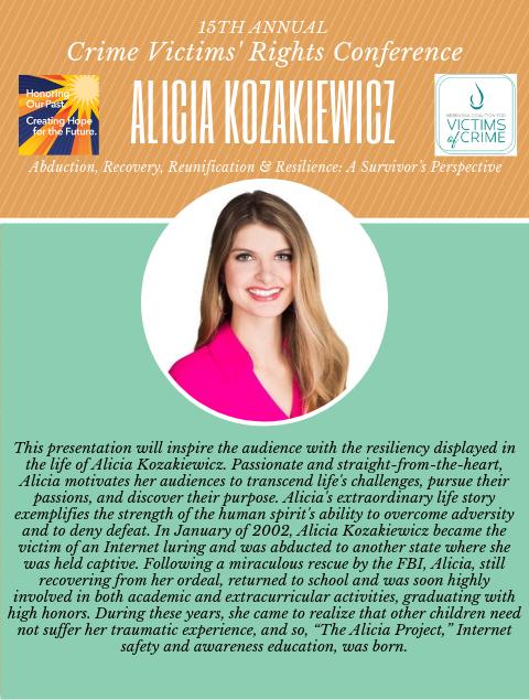 2019 NCVC Crime Victims Rights Conference Spotlight_Alicia Kozakiewicz
